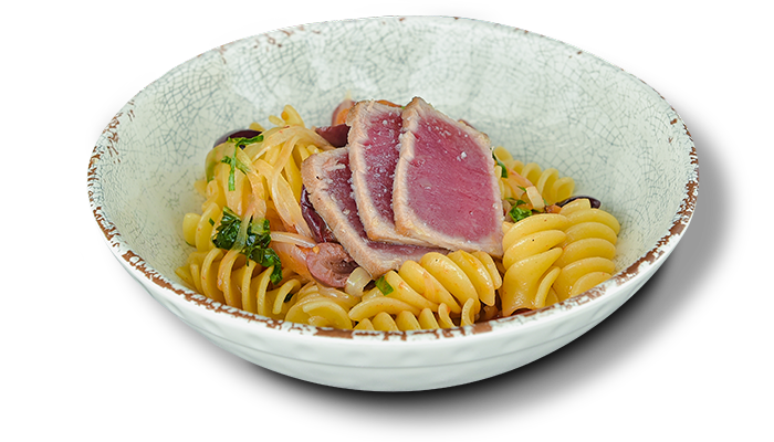 Fusilli Giganti with tuna and tomato sauce